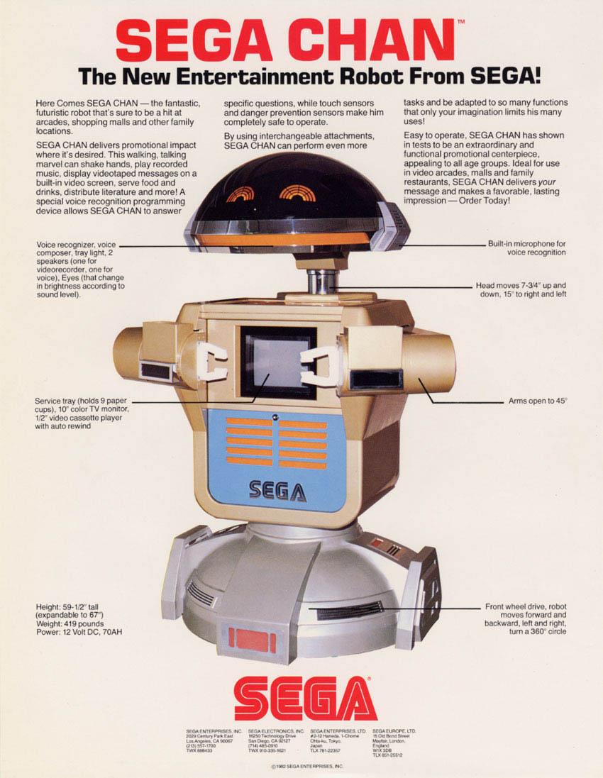 SEGA aussi avait un ROB, mais un peux plus grand! Segachan