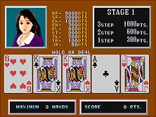 Bande de poker de jeu de jeu érotique