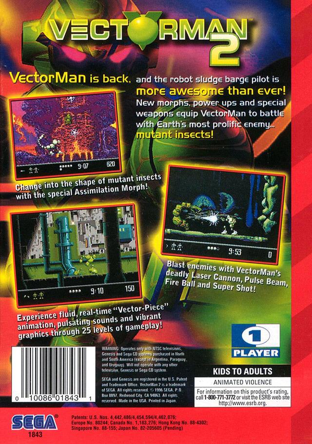 Vectorman 2 sur Megadrive