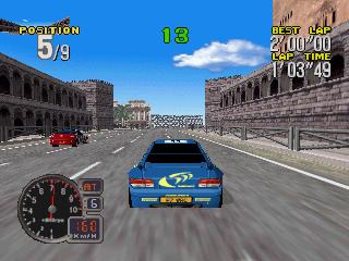 sur Sega rally, mais en moins bien. Un jeu tout de même assez sympa
